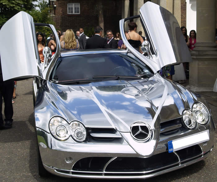 Mercedes SLR Wedding Car Hire and Rental in Essex